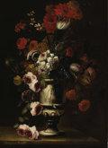 Fine Art - Painting, European:Antique  (Pre 1900), H. BOUAT (French). Floral Still Life. Oil on canvas. 37 x 27-1/4 inches (94 x 69.2 cm). Signed lower left: Honufrius B...