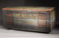 Texas:Early Texas Art - Regionalists, COREEN MARY SPELLMAN (1905-1978). Blanket Box. Wood. 27in. x 60in.x 23in.. Unsigned. This blanket box came from the estat...