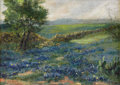 Texas:Early Texas Art - Impressionists, ELOISE POLK MCGILL (1868-1939). Untitled Bluebonnet Landscape,1914. Oil on artist board. 10in. x 14in.. Signed lower right...