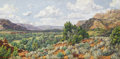 Texas:Early Texas Art - Impressionists, STAPLETON KEARNS (b. 1952). Mid-Day Drifting Clouds Palo DuroCanyon, Texas, 2004. Oil on canvas. 24in. x 48in.. Signed ...
