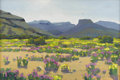 Texas:Early Texas Art - Impressionists, STEPHEN POSTUHOV (living). Desert Wild Flowers / Davis Mountains, Texas. Oil on canvas. 16in. x 24in.. Signed lower left...