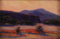 Texas:Early Texas Art - Impressionists, DAWSON DAWSON-WATSON (1864-1939) . At Valentine, New Mexico,1921. Oil on artist board. 6in. x 9in.. Signed lower right...