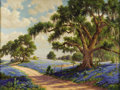 Texas:Early Texas Art - Impressionists, Dolly Nabinger (1905-1988) Springtime in Texas, c.1940s Oil oncanvas 30 x 40in. Signed lower left: D.S. Nabinger ...