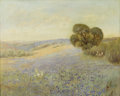 Texas:Early Texas Art - Impressionists, ATTRIBUTED TO DAWSON DAWSON-WATSON (1864-1939). Untitled BluebonnetLandscape. Oil on canvas. 24in. x 30in.. Unsigned. Thi...