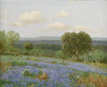 Paintings, PORFIRIO SALINAS (1910-1973). Untitled Bluebonnet Landscape, 1940s to 1950s. Oil on canvas. 16in. x 20in.. Signed lower left...