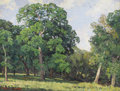 Texas:Early Texas Art - Impressionists, STAPLETON KEARNS (b. 1952). Live Oaks Near Elm Creek / RanchoLos Senderos, Nixon, Texas. Oil on linen. 18in. x 24in.. S...