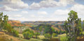 Texas:Early Texas Art - Impressionists, STEFAN PASTUHOV (living). View at the Rim (Palo DuroCanyon), 2004. Oil on canvas. 24 x 48 inches (61.0 x 121.9 cm).Sig...