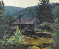 Texas:Early Texas Art - Regionalists, OLIN TRAVIS (1888-1975). The Crawford Homestead Near St. Paul,Ark., late 1920s to early 1930s. Oil on canvas. 20in. x 2...