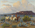 Texas:Early Texas Art - Regionalists, FRED DARGE (1900-1978). Black Mesa. Oil on canvasboard.20in. x 24in.. Signed lower right. Titled verso. A masterful c...