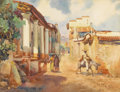 Texas:Early Texas Art - Regionalists, JOHN ORTH (1889-1976). Acapulco Mexico. Watercolor. 18in. x23in.. Signed and titled lower left. A sun-filled scene fr...