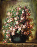 Texas:Early Texas Art - Impressionists, JOHN ORTH (1889-1976). Fuchsia. Oil on canvas. 30in. x24in.. Signed lower right. Signed and titled verso. Provenance:...
