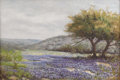 Texas:Early Texas Art - Impressionists, TOM HAMILTON (early 20th century). Untitled Bluebonnet Landscape.Oil on canvas. 20.5in. x 30.5in.. Signed lower right. ...