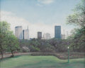 Texas:Early Texas Art - Regionalists, LUCRETIA DONNELL COKE (b. 1917). Downtown Dallas, 1965.Pastel. 8in. x 10in.. Signed and dated lower right. Lucretia C...