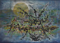 Paintings, ROBERT PREUSSER (1919-1992). Luminary Landscape. 36in. x 50in.. Oil and mixed media on canvas. Signed lower right. Signe...