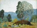 Texas:Early Texas Art - Regionalists, DWIGHT HOLMES (1900-1986). Weeping Juniper in Chisos, 1940s.Oil on canvasboard. 16in. x 12in.. Signed lower right. Titl...