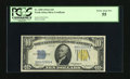 Small Size:World War II Emergency Notes, Fr. 2309 $10 1934A North Africa Silver Certificate. PCGS Choice About New 55.. A paper guide line marker decorates this $10....