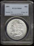 Morgan Dollars: , 1891 S$1