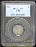 Binder Lots--Three Cent Pieces: , 1865 1C J-406