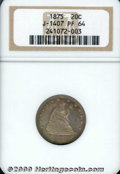 Binder Lots--Three Cent Pieces: , 1875 20C J-1407