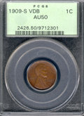 Lincoln Cents: , 1909-S 1C VDB, BN
