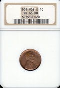 Lincoln Cents: , 1909-S 1C VDB, RB