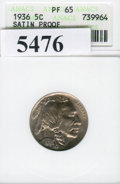 Proof Buffalo Nickels: , 1936 5C TYPE 1