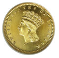 Proof Gold Dollars: , 1868 G$1