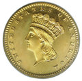 Proof Gold Dollars: , 1870 G$1