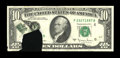 Error Notes:Printed Tears, Fr. 2024-F $10 1977A Federal Reserve Note. Choice AboutUncirculated.. ...