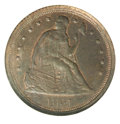 Binder Lots--Three Cent Pieces: , 1854 One Cent, Judd-159, Pollock-186, R.6-7, MS 61 Brown NGC....