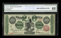Large Size:Legal Tender Notes, Fr. 126b $20 1863 Legal Tender CGA Gem Uncirculated 65....