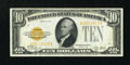 Small Size:Gold Certificates, Fr. 2400 $10 1928 Gold Certificate. About Uncirculated.. ...