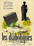 "Movie Posters:Mystery, Les Diaboliques (Cinedis, 1955). French Petite (23.5"" X 31"")...."