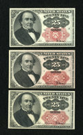 Fractional Currency:Fifth Issue, Fr. 1308/9 Trio of 25c Fifth Issue Choice New.... (Total: 3 notes)