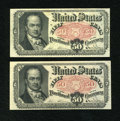 Fractional Currency:Fifth Issue, Fr. 1381 Pair 50c Fifth Issue Extremely Fine-About New.... (Total:2 notes)