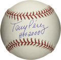 "Autographs:Baseballs, Tony Perez ""HOF 2000"" Single Signed Baseball. One of the finest RBImen the game has ever known has applied a top-notch swe..."