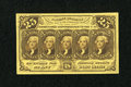 Fractional Currency:First Issue, Fr. 1282SP 25c Narrow Margin Face First Issue New....