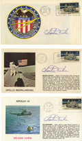 Explorers:Space Exploration, Apollo 16: Set of Three Covers Signed by Charles Duke.... (Total: 3Items)
