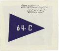 Explorers:Space Exploration, Apollo 16 Command Module Flown 64-C Beta Cloth Flag Signed byCharles Duke....