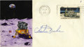 Explorers:Space Exploration, Apollo 16 Command Module Flown Hand-Painted Postal Cover Signed byCharles Duke....
