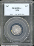 Binder Lots--Three Cent Pieces: , 1869 10C J-696