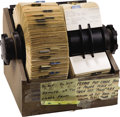 Movie/TV Memorabilia:Props, Beverly Hills CENSORED Club Rolodex. A large, two-reel rolodex fromthe Beverly Hills CENSORED Club offices containing hundr... (Total:1 Item)