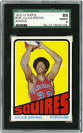 Basketball Cards:Singles (1970-1979), 1972 Topps Basketball Julius Erving Rookie #195 SGC NM-MT 88.Basketball seemed to be a totally different game before Dr. J...