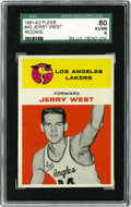Basketball Cards:Singles (Pre-1970), 1961-62 Fleer Jerry West Rookie #43 SGC EX-MT 80. What higherpraise can there be than to be the basis for the league's log...