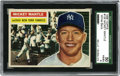 Baseball Cards:Singles (1950-1959), 1956 Topps Mickey Mantle #135 SGC VG-EX 50. Hobby classic Mantlecard was released the year of his finest season during whi...