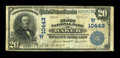 National Bank Notes:Montana, Baker, MT - $20 1902 Plain Back Fr. 656 The First NB Ch. #(W)10443. ...