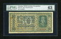 World Currency: , Ukraine 50 Karbowanez Ukraine Central Bank 1942 Pick 54. This is a German occupation note that has the Nazi German eagle pri...