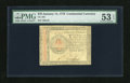 Colonial Notes:Continental Congress Issues, Continental Currency January 14, 1779 $70 PMG About Uncirculated 53EPQ. Only this final Continental Issue contained the $70...