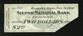 Obsoletes By State:Ohio, Hamilton, OH- Second National Bank $2 Nov. 9, 1907. This is onlythe second time that we have encountered 1907 Panic Scrip o...