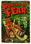 Golden Age (1938-1955):Horror, Worlds of Fear #9 (Fawcett, 1953) Condition: GD....